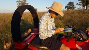Planning grazing - derek on bike