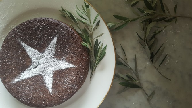 Festive Chocolate & Olive Oil Cake