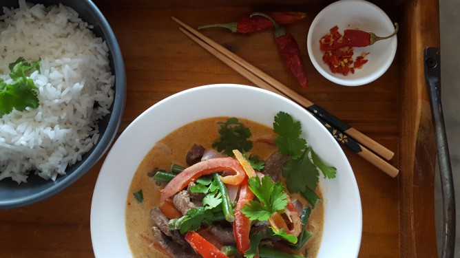 Thai Red Beef Curry – Slow Cooked with Pumpkin or Stir Fry with Vegetables